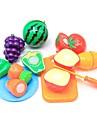 مجموعات لعبة مطبخ لعب تمثيلي مأكولات فاكهة التفاعل بين الوالدين والطفل قذيفة البلاستيك مرحلة ما قبل المدرسة للصبيان للفتيات ألعاب هدية 10 pcs