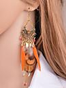 Women\'s Long Drop Earrings - European, Trendy, Hyperbole Orange For Masquerade Holiday
