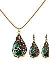 Pentru femei Retro Set bijuterii - Ștras Păun Vintage, European, Modă Include Lănțișor Cercei Rosu / Verde / Albastru Pentru Casual / Σκουλαρίκια