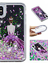 케이스 제품 Apple iPhone X / iPhone 8 Plus 플로잉 리퀴드 / 패턴 / 글리터 샤인 뒷면 커버 섹시 레이디 / 글리터 샤인 소프트 TPU 용 iPhone X / iPhone 8 Plus / iPhone 8