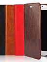 Etui Til Samsung Galaxy S9 / S8 Plus Lommebok / Kortholder / med stativ Heldekkende etui Ensfarget Hard ekte laer til S9 / S8 / S7 edge