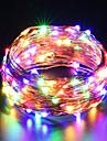 ZDM usb cable de cobre luces cadena de hadas 10m / 33ft 100leds con 7 colores diferentes rgb cambio automaticamente a prueba de agua estrellado dcor cuerda luces navidad luces de tira (cambio automati