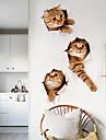 Декоративные наклейки на стены - Простые наклейки Животные Гостиная / Ванная комната