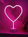 1 juego LOVE Luz de noche LED RGB Pilas AA alimentadas Creativo / Boda / Seguridad Bateria / <5 V