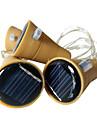 3 unids 10led 1 m botella de vino solar tapon de cobre tira de hadas exterior decoracion del partido novedad noche lampara diy