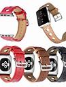 Urrem for Apple Watch Series 4/3/2/1 Apple Læderrem Læder / Ægte læder Håndledsrem
