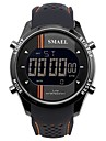 SMAEL Herrn Uhr Sportuhr Digitaluhr Japanisch Japanischer Quartz Silikon Schwarz / Pool-Blau 50 m Wasserdicht Kalender Chronograph digital Freizeit Modisch Blau Orange / Schwarz / Stopuhr
