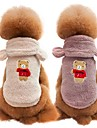 Cachorros Gatos Casacos Colete Roupas para Caes Solido Cafe Vermelho Azul 1.0 Ocasioes Especiais Para Pug Bichon Frise Schnauzer Outono Inverno Unisexo Casual Fashion