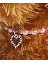 Chiens / Chats Collier Portable / Ajustable / Reglable / Decoration Couleur Pleine / Amour Plastique Violet / Bleu / Rose