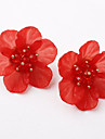 Per donna Classico Orecchini a bottone - Fiore decorativo Donne Europeo Dolce Di tendenza Gioielli Nero / Rosso / Blu Per Casual Quotidiano 1 paio