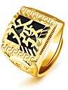 Homens Retro Midi Ring - 18k Ouro Fashion Joias Dourado Para Festa Diario Ajustavel