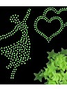 100pcs/bag Glow in the Dark Toys Luminous Star Stickers Bedroom Sofa Fluorescent Painting Toy Stickers for Kids Room