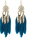สำหรับผู้หญิง สไตล์วินเทจ Drop Earrings - สีดำ / สีน้ำเงินเข้ม สำหรับ เดท เทศกาล