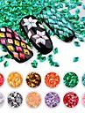 PVC Glitter Pailletter Til Fingernegl Tånegl 3D-grænseflade / -ko Venlig / Nyt Design Blomster Serier Romantisk Serie Negle kunst Manicure Pedicure Stilfuld / Sød Speciel Lejlighed / Daglig
