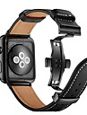 Watch Band for Apple Watch Series 4/3/2/1 Apple Butterfly Buckle Genuine Leather Wrist Strap