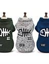 Chiens Pull Vetements pour Chien Mot / Phrase / Bande dessinee / Britannique Bleu de minuit / Gris / Vert fonce Coton Costume Pour les animaux domestiques Unisexe Logo / Garder au chaud