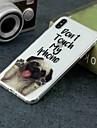 Case Kompatibilitás Apple iPhone XR / iPhone XS Max Átlátszó / Minta Fekete tok Kutya Puha TPU mert iPhone XS / iPhone XR / iPhone XS Max
