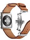 Watch kapela pro Apple Watch Series 4/3/2/1 Apple Butterfly Buckle Pravá kůže Poutko na zápěstí