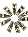 SENCART 10 pezzi T10 Auto Lampadine 5 W SMD 5630 800 lm 10 LED Luci interne Per Motori generali Tutti gli anni