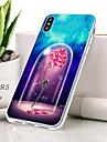 Etui Til Apple iPhone XR Stoevtett / Ultratynn / Moenster Bakdeksel Blomsternaal i krystall Myk TPU til iPhone XR
