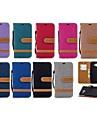 Кейс для Назначение SSamsung Galaxy J6 / J4 Кошелек / Бумажник для карт / со стендом Чехол Плитка Твердый текстильный для J6 (2018) / J6 Plus / J5 (2017)