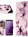 ケース 用途 Samsung Galaxy S9 / S8 Plus ウォレット / カードホルダー / スタンド付き フルボディーケース フラワー ハード PUレザー のために S9 / S9 Plus / S8 Plus