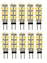 SENCART 10pcs 3 W 180 lm G4 Becuri LED Bi-pin T 13 LED-uri de margele SMD 5050 Decorativ Alb Cald / Alb / Roșu 12 V