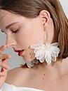 1 pár Női Fonott Függők - Hamis gyémánt Virág hölgyek Stílusos Klasszikus Édes Ékszerek Fehér / Fekete / Világos bíbor Kompatibilitás Napi Fesztivál