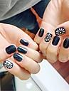 24 pcs Multi Function / Cea mai buna calitate Materiale ecologice Pietre geometrice Pentru Creative nail art pedichiura si manichiura Zilnic La modă / Modă