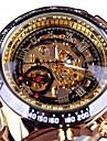 สำหรับผู้ชาย นาฬิกาเห็นกลไกจักรกล วิศวกรรมนาฬิกา นาฬิกาอิเล็กทรอนิกส์ (Quartz) สแตนเลส ดำ / ทอง แกะสลักกลวง ปุ่มหมุนขนาดใหญ่ ระบบอนาล็อก ไม่เป็นทางการ แฟชั่น - สีทอง-ดำ Black / Silver Black / Rose