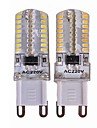 sencart 4pcs g9 led bi-pins verlichting 64x3014smd wit warm wit 110-240 v 3.5w 450lm