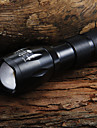 UltraFire LED Flashlights LED Flashlights / Torch LED LED 7 Emitters 1600 lm 5 Mode with Battery and Charger Zoomable Adjustable Focus Camping / Hiking / Caving Everyday Use Cycling / Bike Black