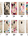 hoesje Voor Samsung Galaxy A8 2018 / A7 (2018) Transparant / Patroon Achterkant Lace Printing / Bloem Zacht TPU voor A5(2018) / A6 (2018) / A6+ (2018)
