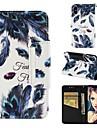 Кейс для Назначение Apple iPhone XR / iPhone XS Max Кошелек / Бумажник для карт / Защита от удара Чехол Перья Твердый Кожа PU для iPhone XS / iPhone XR / iPhone XS Max