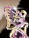 Žene Ametist Klasičan Prsten Izjave Kamen Dragonfly Europska pomodan Romantični Modno prstenje Jewelry Crvena / Zelen Za Party Spoj 6 / 7 / 8 / 9 / 10