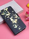 Custodia Per Apple iPhone XS / iPhone XS Max A portafoglio / Porta-carte di credito / Con supporto Integrale Farfalla Resistente pelle sintetica per iPhone XS / iPhone XR / iPhone XS Max