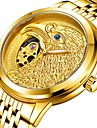 สำหรับผู้ชาย วิศวกรรมนาฬิกา ไขลานอัตโนมัติ ทอง 30 m กันน้ำ noctilucent ระบบอนาล็อก ความหรูหรา แฟชั่น - แดง ฟ้า