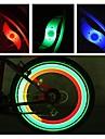 LED Fietsverlichting veiligheidslichten wiel lichten Bike Spoke Light Bergracen Wielrennen Waterbestendig Meerdere modi Alarm CR2032 batterij Fietsen motocycle / IPX-4